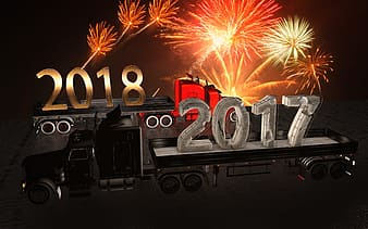 Black, brown, and red 2018 2017 truck illustration