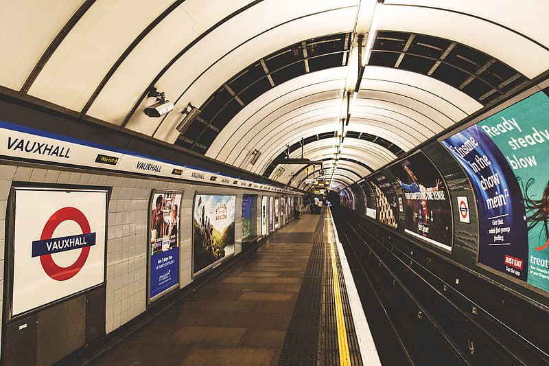 Train station on the London Underground