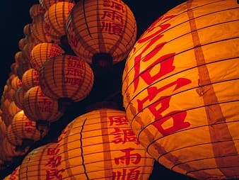 Hanging Japanese lantern photograph