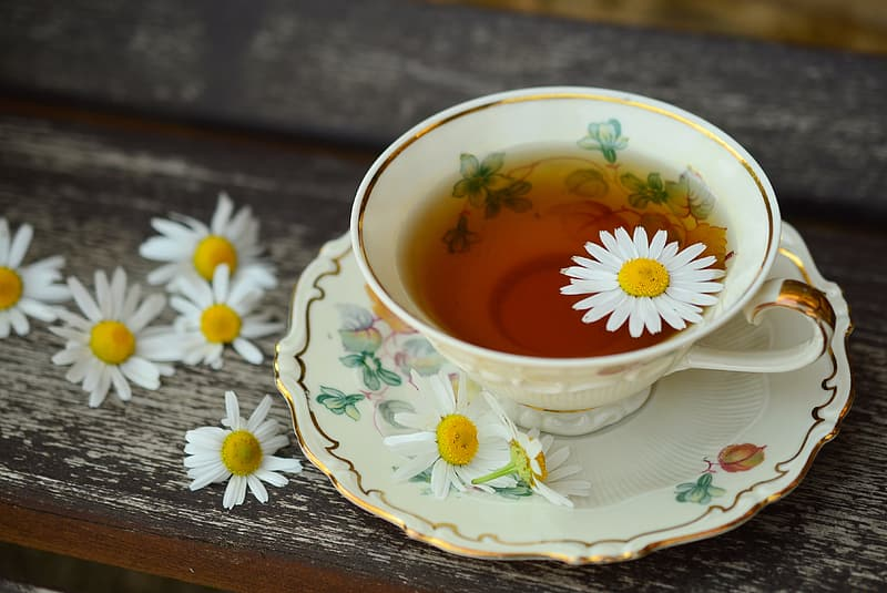 Teacup with flower