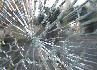 Closeup photo of cut glass