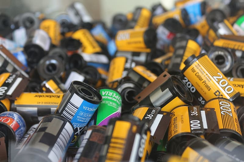 Selective focus photo of ink cartridges