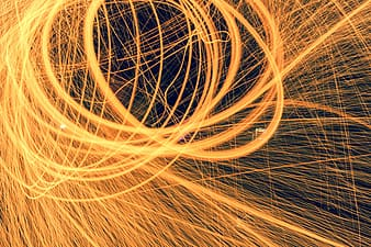 Timelapse photography of fire