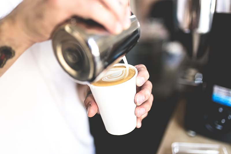 Person making coffee