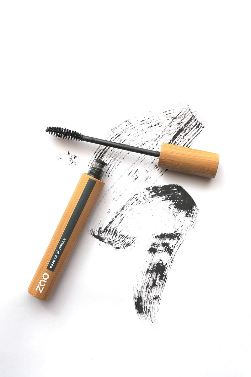Brown and black brush on white surface