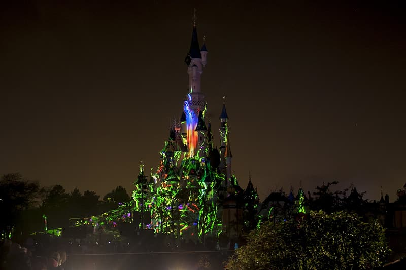 Castle during night