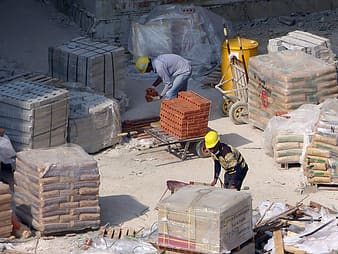 Two men on worksite