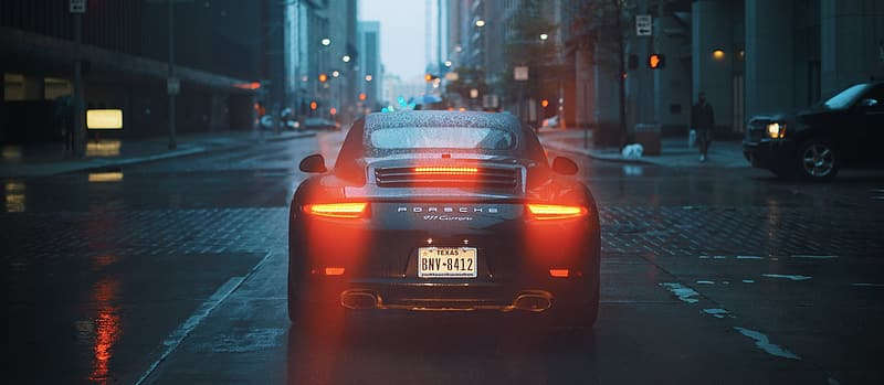Photo of black coupe on street