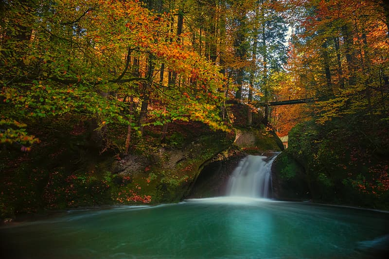 Time lapse waterfall in the middle of forest