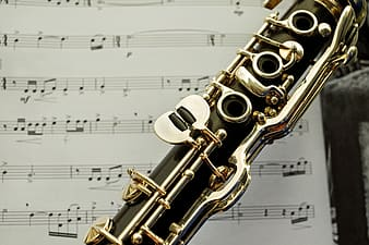 Closeup photo of wind instrument
