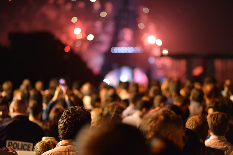 Crowd of people in concert