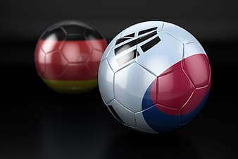 Red white and blue soccer ball