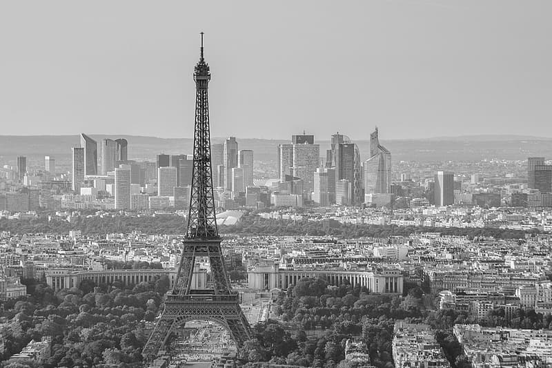Grayscale photography of Eiffel Tower, Paris