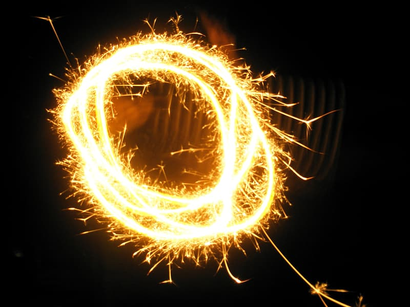 Steel wool photography of light