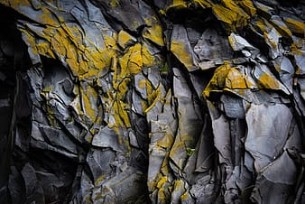 Gray and yellow rock formation