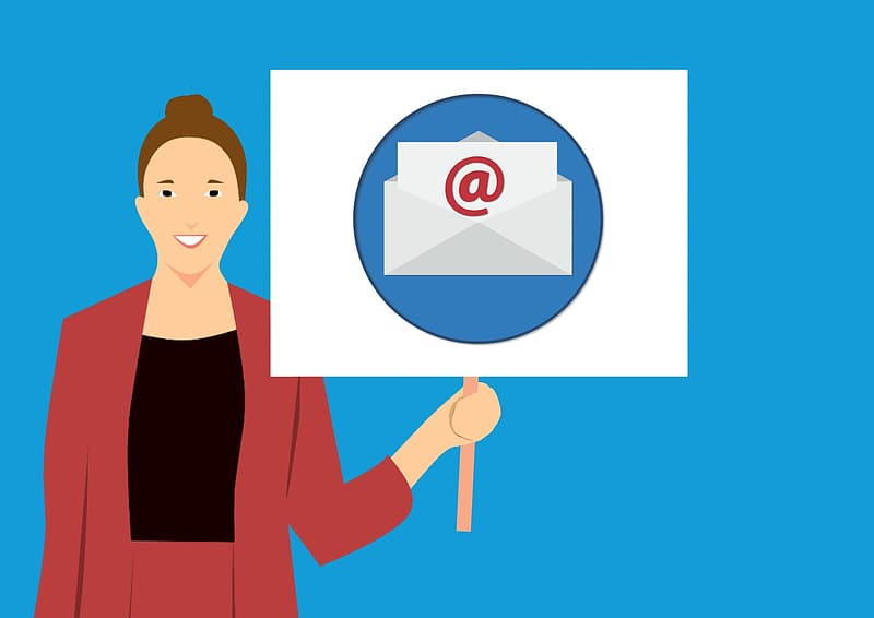 Illustration of woman with email marketing business | Pikrepo