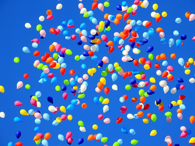 Assorted-color balloon animated wallpaper