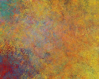 Yellow, orange, green, and red digital abstract painting