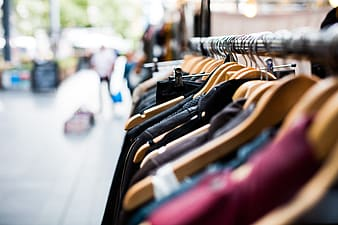 Selective photo of clothing