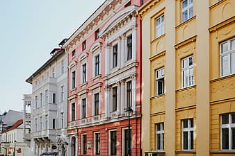 Buildings in an old town