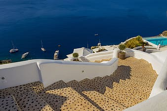 Santorini in Greece at daytime
