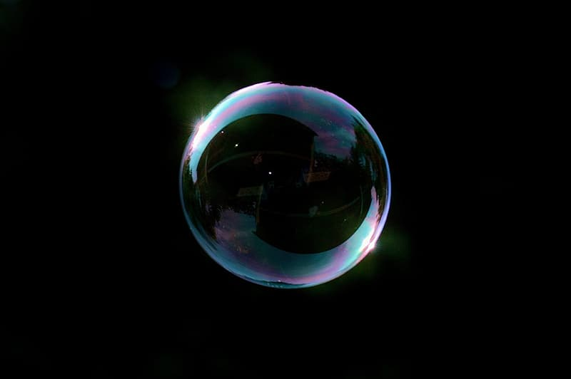 Closeup photography of bubble