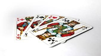 Four Kings playing cards