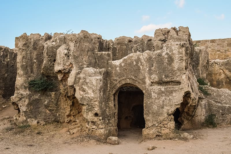 Photo of brown cave