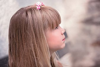 Side view photography of girl