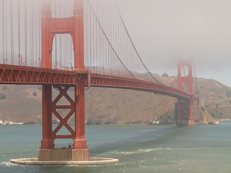 Golden Gate during foggy weather