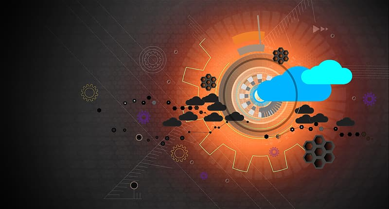 Cloud Computing - Cloud Infrastructure - Abstract Background - Dark Version