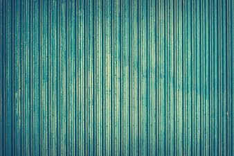 Photo of green corrugated wall