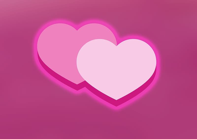 Pink and white hearts illustration