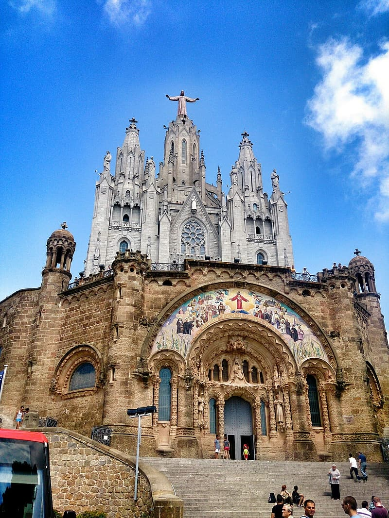 Landscape photography of cathedral