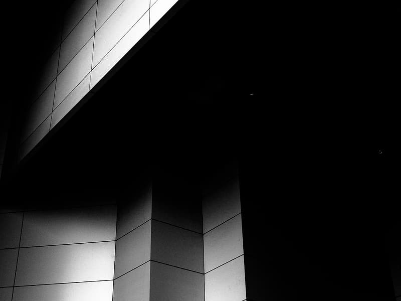 Untitled, wall, white, black, abstract, geometric, tile, background, architecture, modern