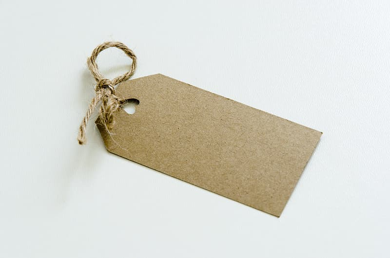 Brown product tag