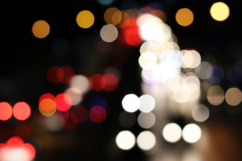Red and white bokeh photography