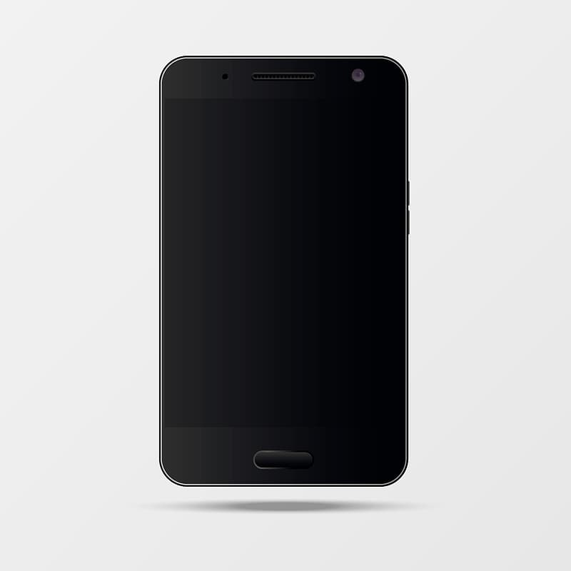 Turned-off black Android smartphone