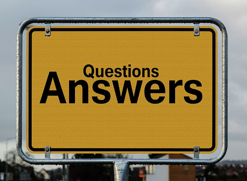 Question Answers signage