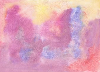 Purple, yellow, and blue abstract painting