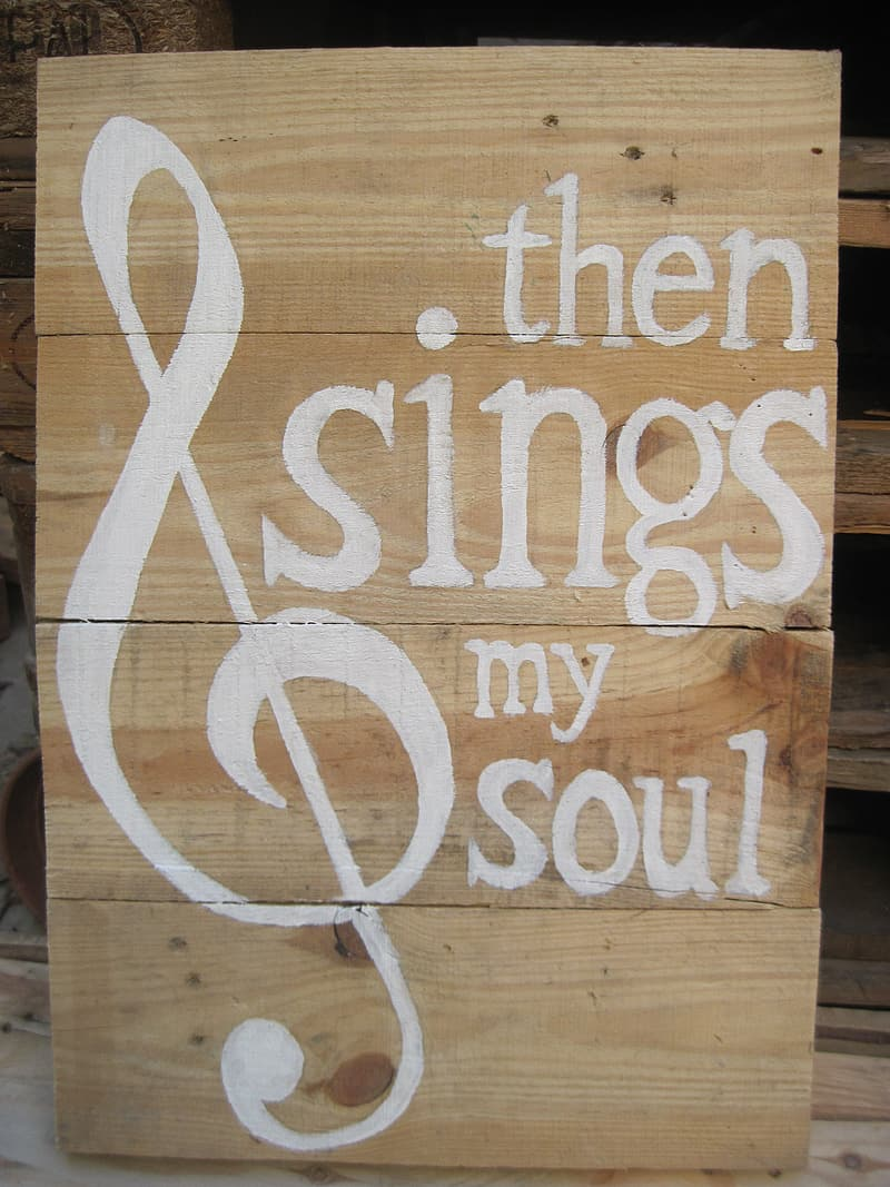 Then sings my soul signage