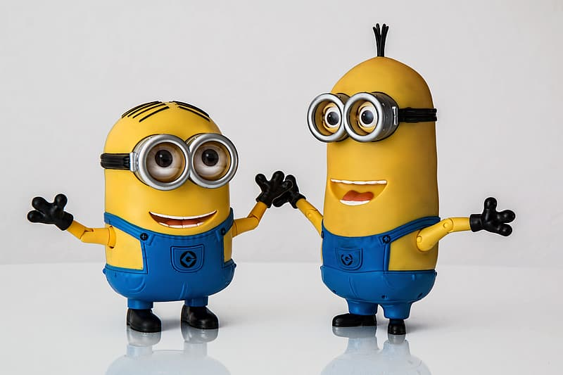 Bob and Kevin from Minions movie action figures