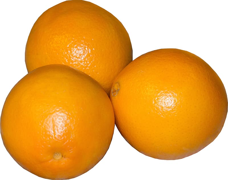 Three orange fruits