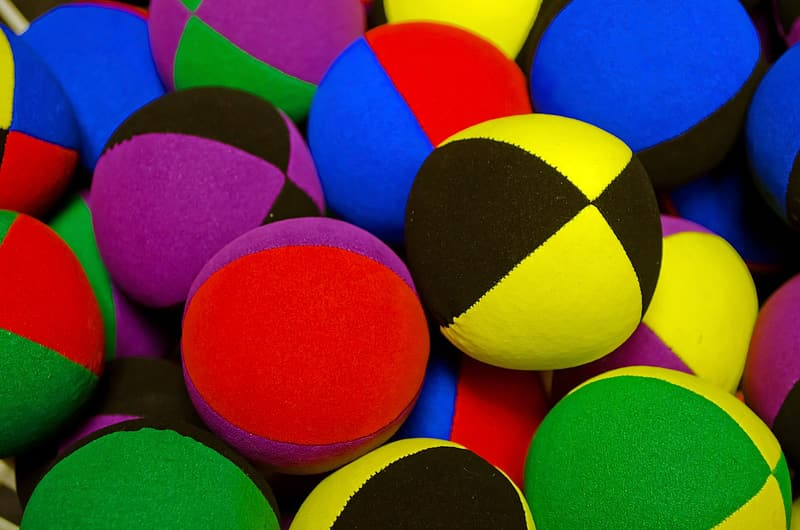 Assorted-color ball lot