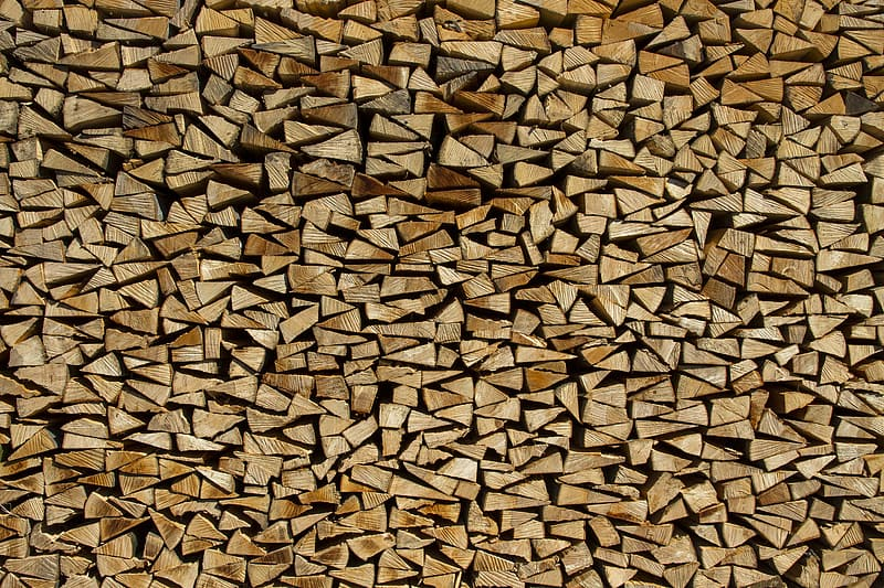 Stack of firewoods