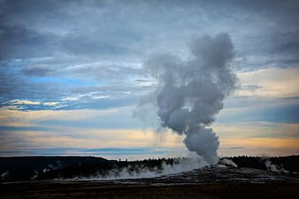 Landscape photography of geysir