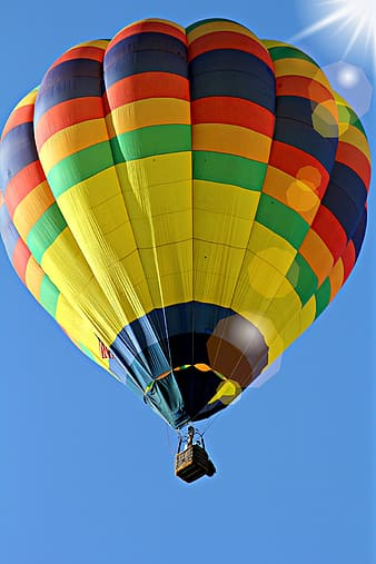 Multicolored hot air balloon during daytime