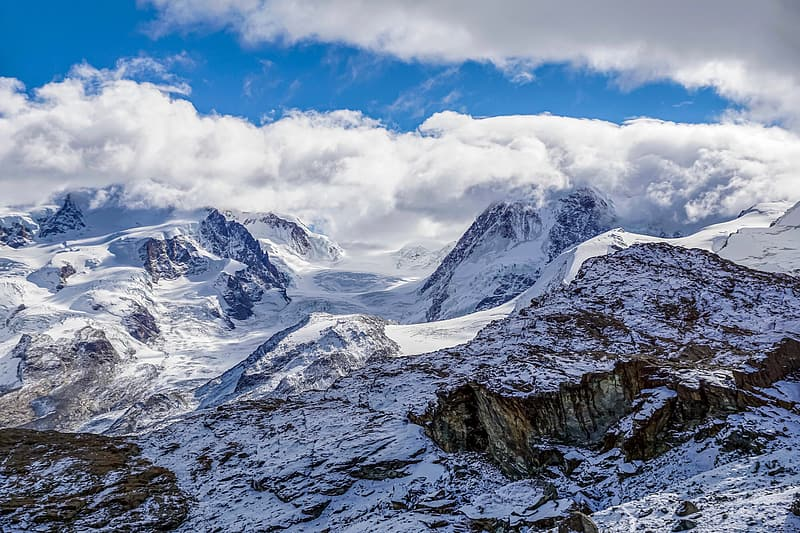 Snow Covered Mountain Under Blue Sky During Daytime Pikrepo