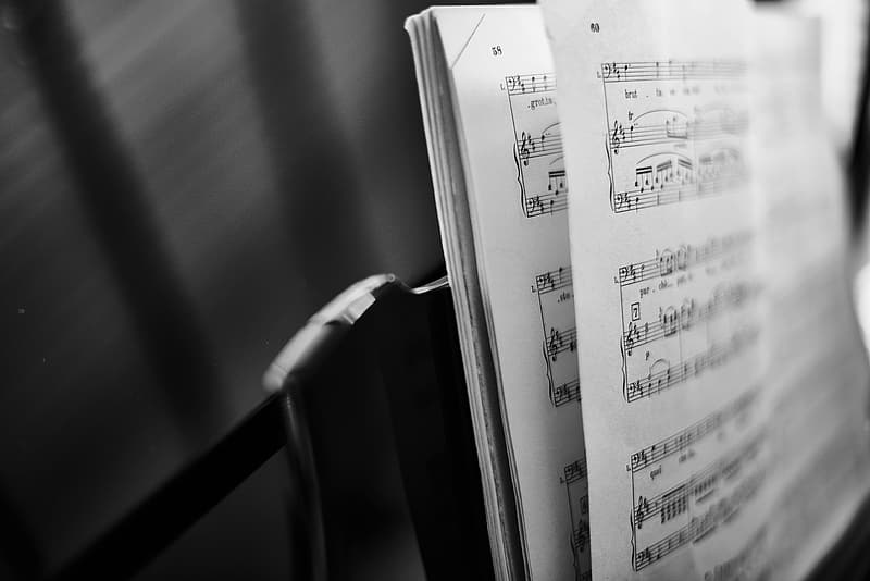 Photo of music book