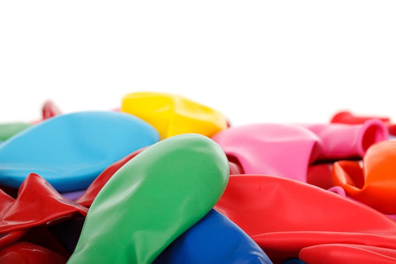 Photo of assorted-color disinflated balloon lot